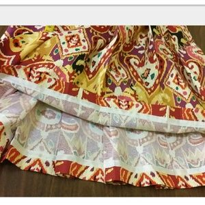 Harrod's Skirts - Pleated Cotton colorful summer skirt zipper